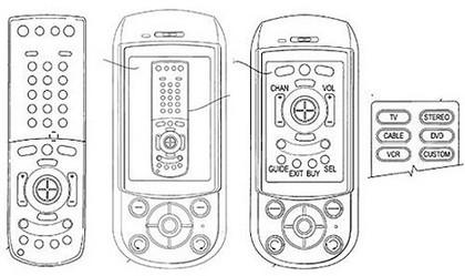 Patente de Sony Ericsson de mando a distancia y móvil