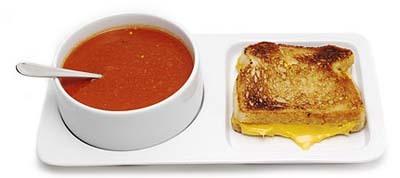 Bandejita para la sopa y el sandwich
