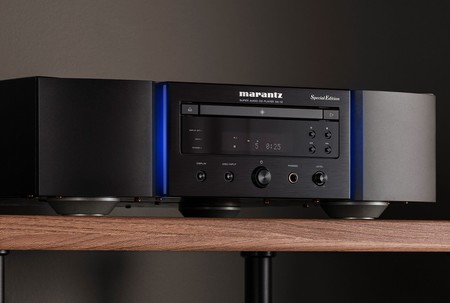 Marantz Sa 12se Lifestyle Black Lights On