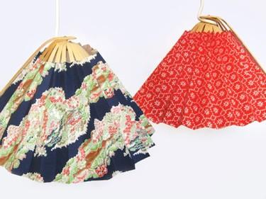 Lámparas inspiradas en abanicos