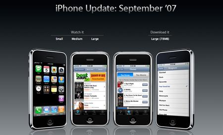 Actualizaciones de software: Firmware 1.1.1 para el iPhone y el iPod touch