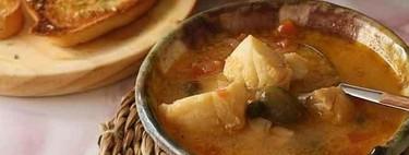 Receta de burrida ligure: sopa de pescado italiana