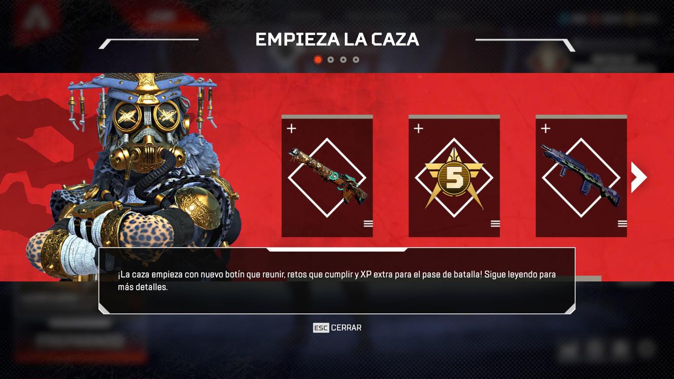 Apex Legends presenta su nuevo evento Caza Legendaria con regalos, skins, puntos dobles y partidas para los mejores jugadores