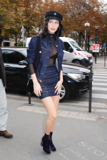 Bella Hadid En Paris Con Look Vaquero