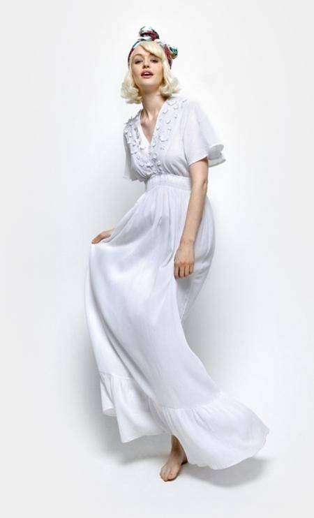 vestido blsnco naf naf