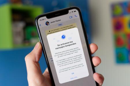 Los mensajes temporales de WhatsApp comienzan a llegar a todos los usuarios: así funcionan los mensajes que se autodestruyen