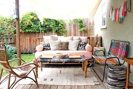 Antes y después: decorando el porche trasero