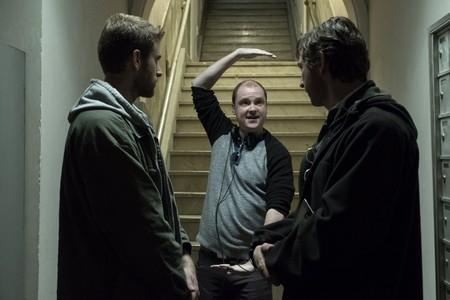 Mike Flanagan durante el rodaje de la serie