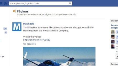 Facebook experimenta con un feed sólo para páginas y podemos verlo en acción