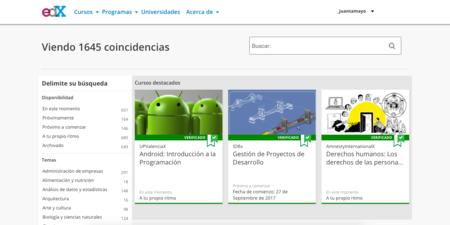 edX, cursos en español