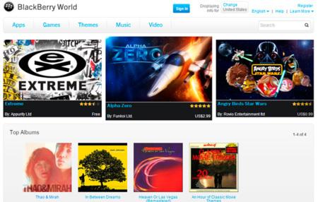 BlackBerry World se actualiza y ya incluye música, cine y series... pero sólo para ciertos países