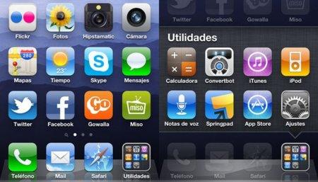 Optimizando el dock de iOS gracias a las carpetas