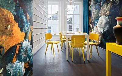 Papel pintado inspirado en las obras de arte del Rijksmuseum