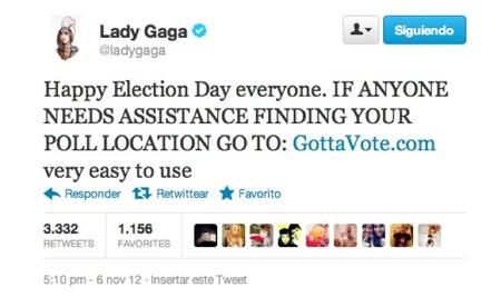 lady gaga vote