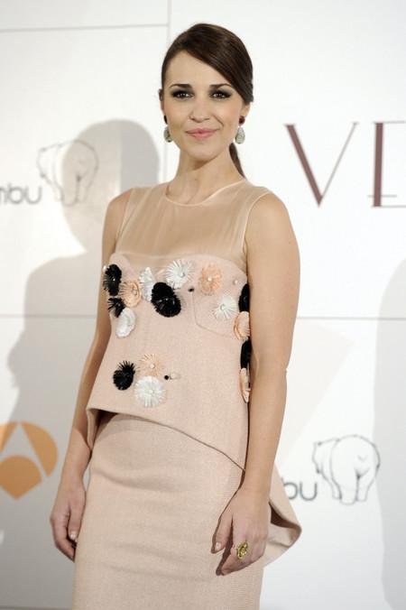 Descubre el look de Paula Echevarría en la presentación de Galerías Velvet