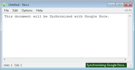 Nocs, un Bloc de Notas que se sincroniza con Google Docs