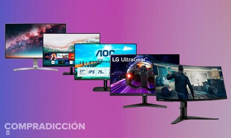 8 monitores gaming y de trabajo de Acer, ASUS, AOC, Lenovo, LG o Samsung en oferta en Amazon