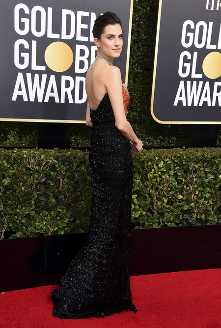 globos de oro 2018 alfombra roja allison williams