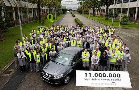 El coche 11 millones de PSA Vigo se ha fabricado hoy