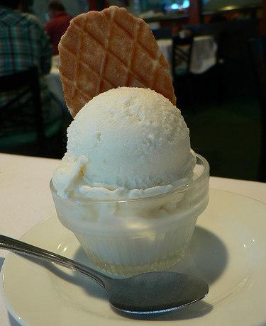 Análisis nutricional de una porción de helado