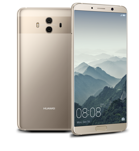 Mate 10 Gold Front And Back Preview