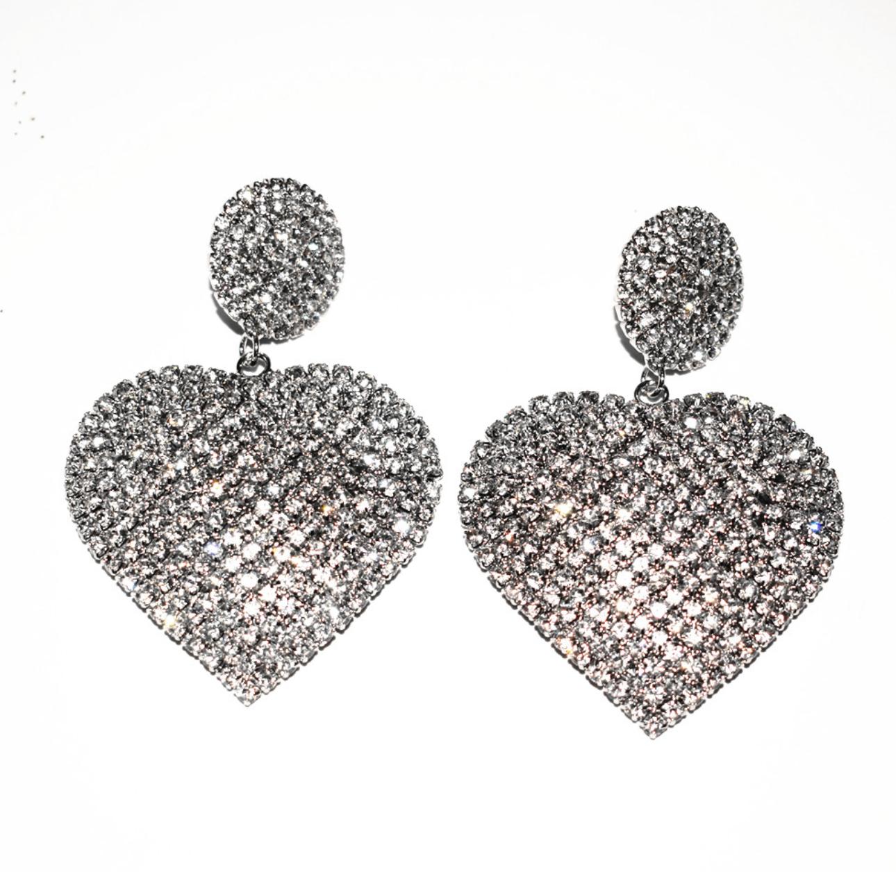 Pendientes colgantes con forma de corazón