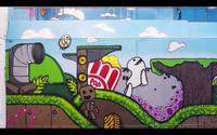 Cuatro artistas grafiteros transforman un enorme almacén del sur de Londres de 371 metros cuadrados en una historia de Little big planet