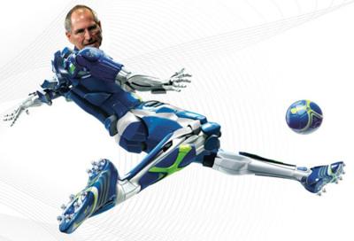 Los británicos creen que Steve Jobs es un futbolista