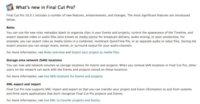 Final Cut Pro X 10.0.1, primera actualización que añade soporte XML entre otras mejoras