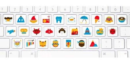 Pegatinas identificativas para el teclado