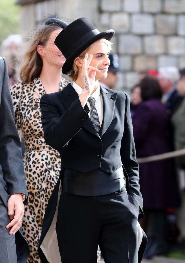 Boda de la princesa Eugenia de York y Jack Brooksbank: Cara Delevingne apuesta por el look más atrevido de la boda real