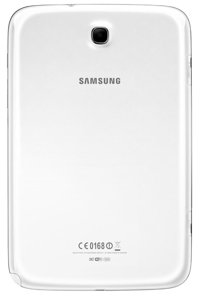 Parte posterior del Galaxy Note 8.0