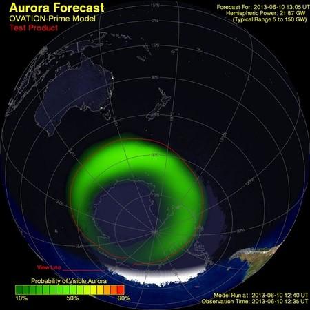 Ovation, la web que indica dónde se verá la próxima aurora