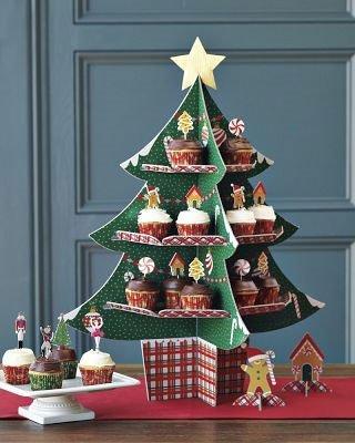 Árbol de Navidad para cupcakes