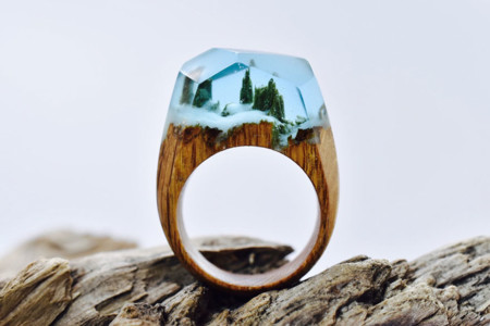 Miniature Scenes Rings Secret Forest 15