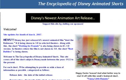 Enciclopedia sobre los cortometrajes animados de Disney