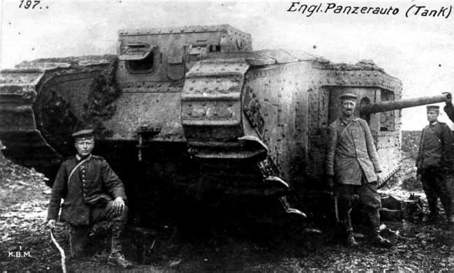 German Photo With English Tank