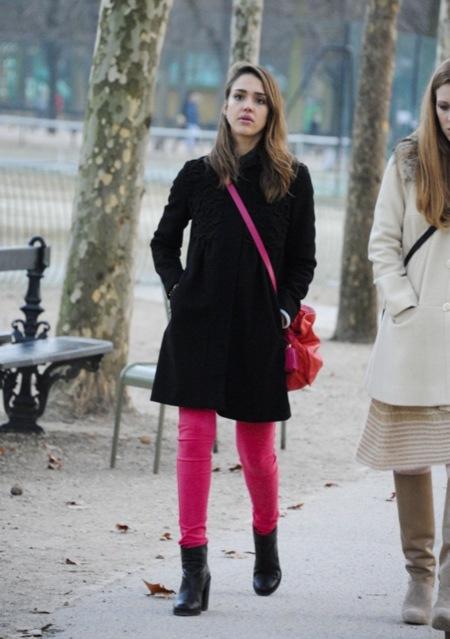 Jessica+Alba+Color+Pants+rosa