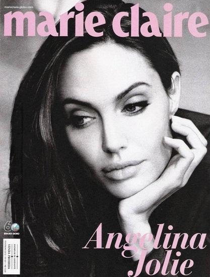 Guapísima. Así sale Angelina Jolie en la nueva portada de Marie Claire Brasil