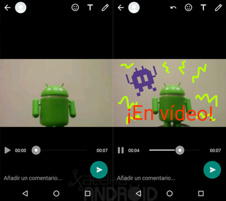 WhatsApp dibujar vídeos