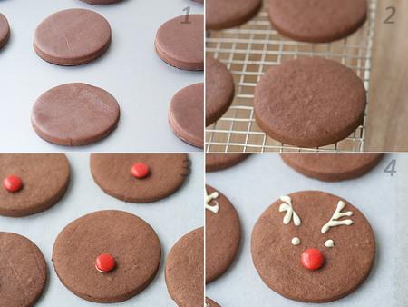 Recetas de Navidad para hacer con niños: Galletas reno de chocolate paso a paso
