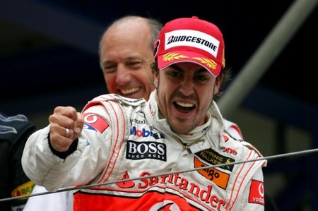 Santander quiere continuar con Fernando Alonso en McLaren