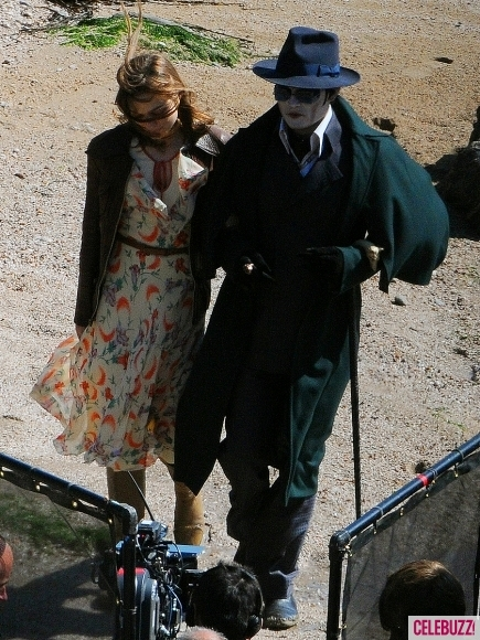 Foto de 'Dark Shadows', fotos de Johnny Depp en el rodaje (4/4)