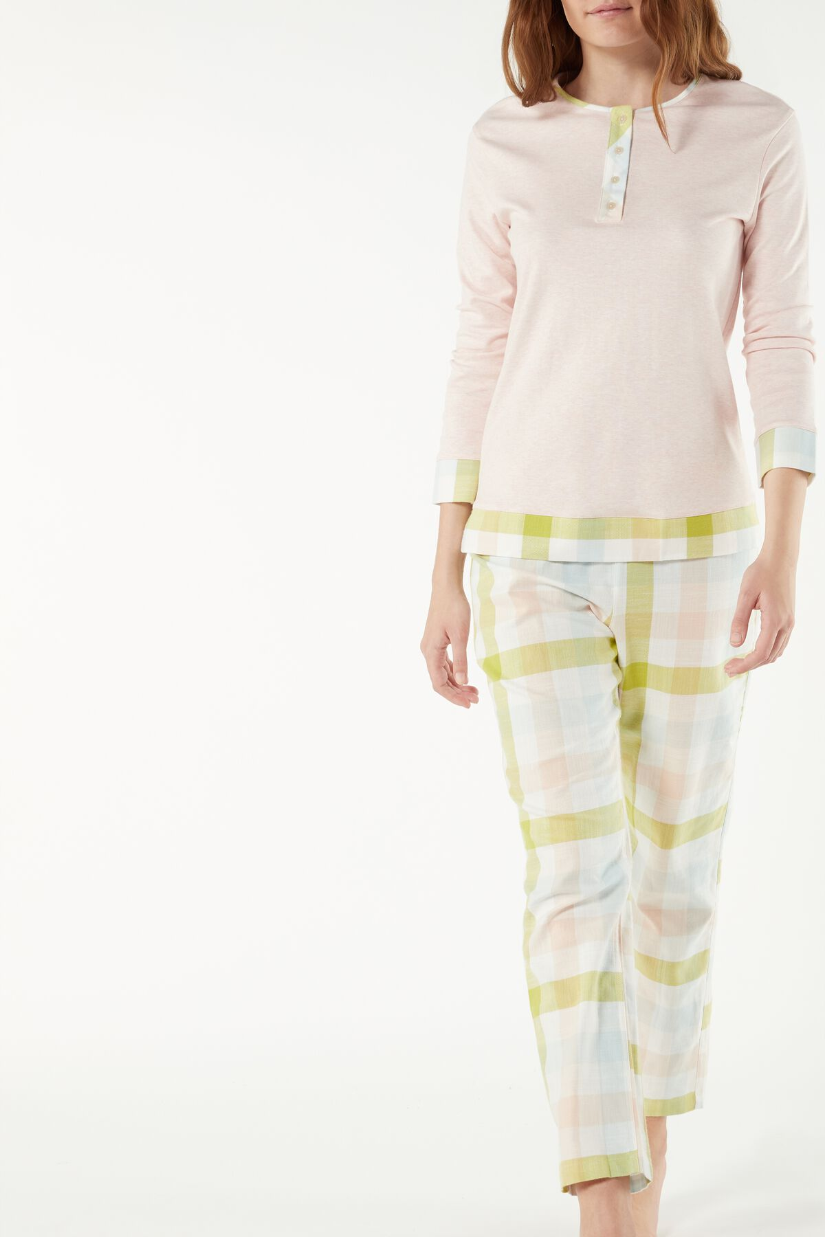 Pijama de cuadros