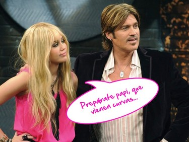 Billy Ray agárrate los machos que Miley se te ha mosqueado
