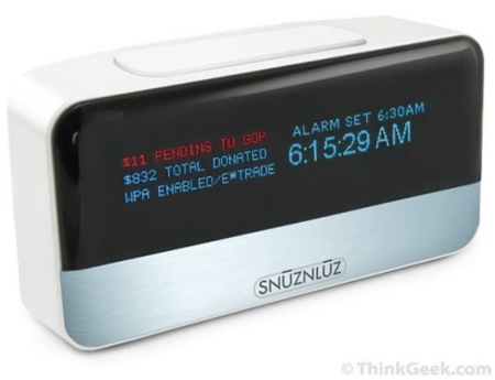 SnūzNLūz, el reloj despertador donador