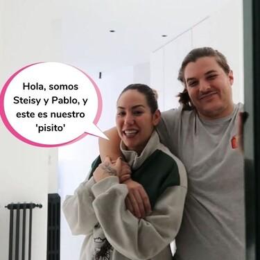 Steisy y su novio enseñan por primera vez todos los rincones de su nuevo 'pisito' en plena Gran Vía de Madrid