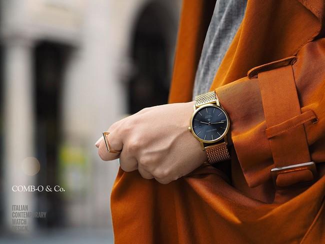 """Del arte de regalar y de la belleza clásica de lo eterno: reloj Comb-o en """"oro y grafito"""""""