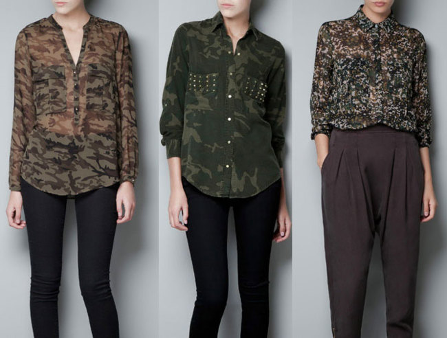 Tendencias low cost invierno 2012: estilo militar