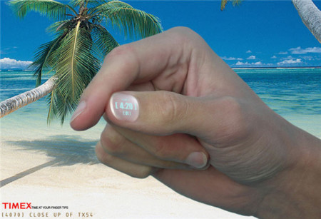 Timex propone ofrecer un reloj en unas uñas desechables